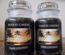 Yankee Candle Dark Coconut  22 oz.  NEW Lot of 2.   Free Shipping.