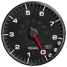 """Auto Meter P238328 5"""" In-Dash Tachometer Gauge Spek-Pro Black Dial Black Bezel"""