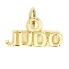 14Kt Yellow Gold Polished Sport Judo Charm Pendant