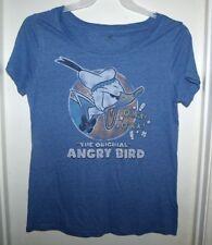 Disney Parks Donald Duck the Original Angry Bird Blue Ladies T-Shirt L