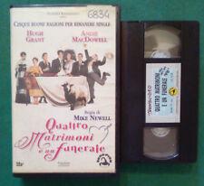 VHS Film Ita QUATTRO MATRIMONI E UN FUNERALE hugh grant ex nolo no dvd(V104)