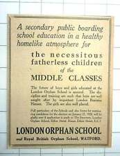 1927 Middle-class Children Supported At London Orphan School Watford