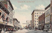 c.1910 Stores East Bay St. Jacksonville FL post card