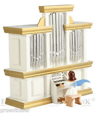 Kurzrock-Engel an der Orgel mit Spielwerk farbig  Fa. Blank Erzgebirge Spieluhr