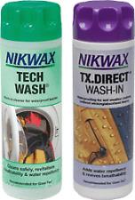 Nikwax Tech lavado Camping Senderismo tiendas de campaña & Tx directa lavado en Twin Pack 300mls