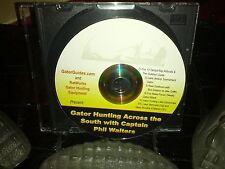 DVD Gator Hunting Across the South Guides Florida Georgia Carolina Alabama