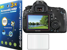 3x Anti-Glare Matte LCD Screen Protector Guard Canon Rebel EOS 60D / 600D T3i