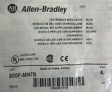 Allen-Bradley 800F-MN7B LED Module With Metal Latch Blue