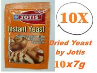 10 x 7g Sachets Dried Yeast by Jotis Cake Desert Bread & Baking Fast Acting