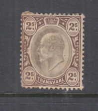 TRANSVAAL, 1902 KEVII, CA, 2s. Black & Brown, heavy hinged, toned.