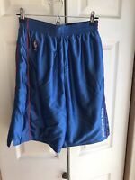 VTG Men's Nike Team Philadelphia 76ers Blue Basketball Shorts RARE Size Medium M