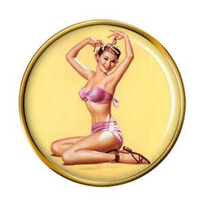 Bella Pin-up Girl Pin Badge
