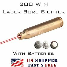 300 WIN MAG Laser Bore Sight BRASS Cartridge .300Win In-Chamber Boresighter RL08