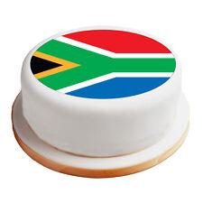 "South African Flag - 8"" Pre-Cut Round Cake Topper Premium Sugar Icing Sheet"