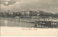 Latvija Jelgava Lettland Kurland Gruß aus Mitau, Brücke am Schloß im Mondschein