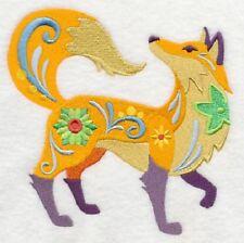 Embroidered Fleece Jacket - Flower Power Fox L4006 Sizes S - Xxl