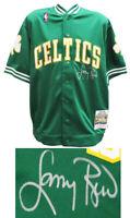 Larry Bird Signed Boston Celtics Green M&N NBA Warm Up Jacket -BIRD HOLO /SS COA