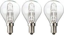 DIALL E14 Halogen Eco Small Edison Screw Bulb 370 Lumens 28w - Pack of 3