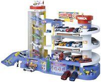 Tomica Super Auto Tomikabiru Building Car Garage Parking TAKARA TOMY F/S w/Track