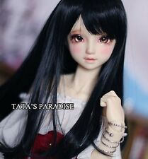 1/4 7-8 Dal BJD SD MSD Wig MDD DOD LUTS DOC Dollfie Doll Toy Black Barbie wigs