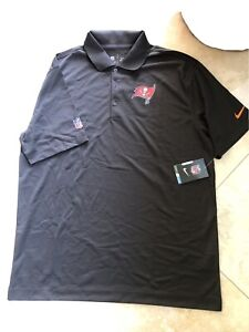 NWT Tampa Bay Buccaneers Nike OnField Polo Shirt Men's GRAY Dri-Fit LARGE