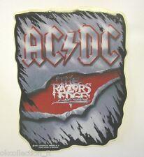 VECCHIO ADESIVO ORIGINALE / Old Original Sticker metal band ACDC (cm 12x15)