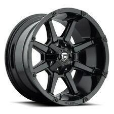 "20"" Fuel Coupler D575 Black Wheels 20x9 6 Lug 6x120 6x5.5 Truck Rim 19mm 78.1"