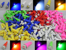 60X T5 5050 1SMD LED white red blue green yellow pink 72 74 Wedge Bulb C030