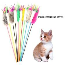 New listing Pet Cat Toy Feather Stick Funny Kitten Playing Rods Pet Feather Interactive Toys