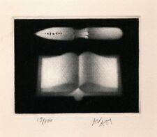 Mario AVATI manière noire estampe signée numérotée livre instrument