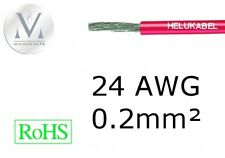 Cable 24AWG 0.2mm² Rouge - 1 mètre