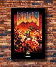 New DOOM 4 2017 Original Hot Game Poster -14x21 24x36 Art Gift X-765