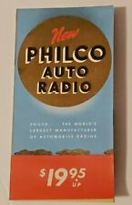 1940'S-1950'S Philco AUTO Radio Paper Advertisement Vintage Ephemera Foldout