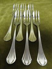 6 fourchettes à gateaux métal argenté christofle printania (pastry forks)