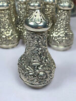 "S. KIRK & SON ""REPOUSSE"" STERLING SILVER PEPPER SHAKER"