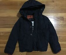 Abercrombie Kids Kempshall Down Jacket Blue With Orange Lining Kids Small