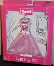 Barbie Fashion Avenue Evening Wear Mattel 18120 Pink Silver Gown NRFB NEW RARE