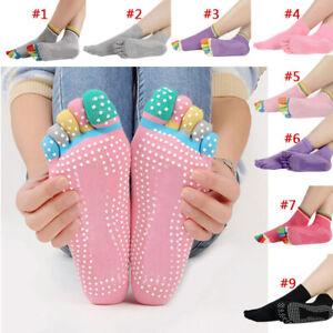 Yoga Socks Non Slip Pilates Massage 5 Toe Socks with Grip For Exercise Gym