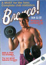 1990/91 DEC- MARCH BRONCOS MAGAZINE - ANDREW GEE COVER