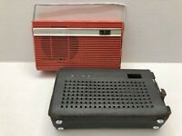 Vintage Sony Transistor Six TR-6080 Coral AM Radio With Case TESTED AND WORKING