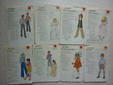 JOBLOT OF UNCUT VINTAGE 1970'S SILVER NEEDLES CHILDREN'S  SEWING PATTERNS