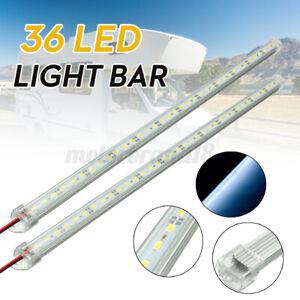 Pair 12V 50cm Car Clear White LED 5630 SMD Interior Strip Light Bar Van