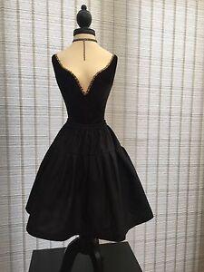 Black Cotton Petticoat Skirt - Choose Length + Waist