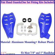 "7/8"" 1 1/8'' Dirt Bike Motorcross Hand Guards Handguard For Yamaha YFZ450 Blue"