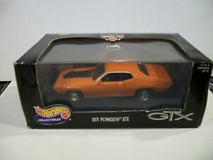 Hot wheels Adult Cool Collectible 1/43 1971 Plymouth GTX w/case
