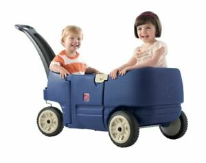 Step2 Wagon for Two Plus-Kids Pull Wagon, Blue