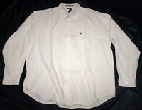 Tommy Hilfiger Mens Long Sleeve Button Front Shirt Size 2XL