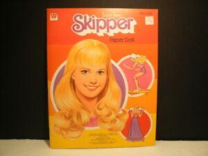 """Paper Dolls, """"Super Teen Skipper"""" 1980, W:1980, 1 Doll, 4 Uncut Pages, Mint"""
