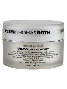 Peter Thomas Roth Clinical Skin Care Un-Wrinkle Night Cream 56g/2oz SEALED