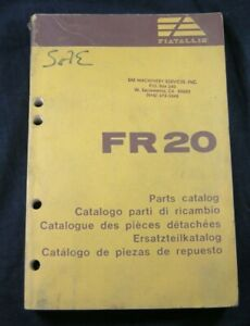 Fiat Allis FR20 Wheel Loader Tractor Parts Manual Book Catalog Fiatallis FR 20